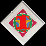 Robert Indiana One From The American Dream Portfolio Screenprint Signed And N