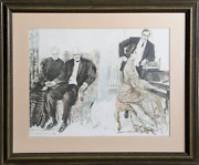 Howard Chandler Christy Looking Envers Lithographie Signandeacutee En The Plaque