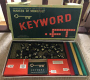 Keyword Board Game 1953 By Parker Brothers Vintage Letters Word Game
