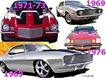 A Bil-ch-47 Grille 1967-1969 Chev Camaro Full Phantom Polished Need Template
