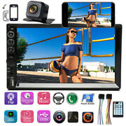 Sony Len Camera+double 2din 7 Car Stereo Touch Screen Radio Mirror Link For Gps