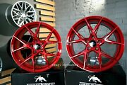 New 19 Inch 5x112 Forzza Oregon Candy Red Wheels For Audi Mercedes-benz Bmw G