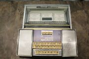 Vintage Seeburg Consolette Sc-1 Wall Box With Key Remote Stereo Jukebox 4c3