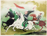 William Gropper Red Cavalry Lithograph Signed In Pencil