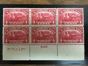 Q4 .04 Rural Carrier Plate Block Of 6 Mnh. Bottom Position. Very Attractive