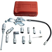 Multi Function Lubrication Grease Gun Aid Hoses Couplers Air Tool Kit Needle
