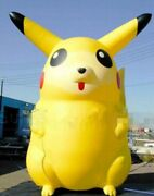 Customize Giant Catoon Characters Inflatable Pikachu With Blower 5m High B