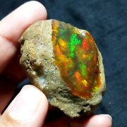 See Video 275 Cts Natural Aaa+welo Fire Ethiopian Opal Rough55x39x30mmz126
