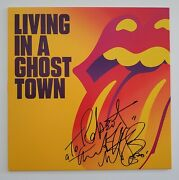 Charlie Watts Signed Rolling Stones Living In A Ghost Town 10 Vinyl Record Rad