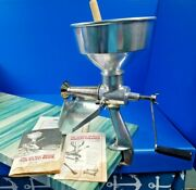 Vintage 1983 Original All Metal Squeezo Strainer Model 400-ts Canning Food Mill