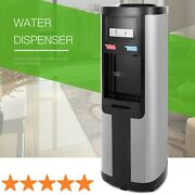 Electric Water Cooler Dispenser Stainless Steel Hot Cold Top Loading 5 Gallon