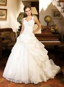 Vintage Ball Gown Straps Wedding Dresses Crystal Lace Sweetheart Bridal Gowns