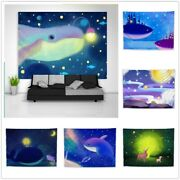 Abstract Night Fantasy Whale Tapestry Art Wall Hanging Cover Poster