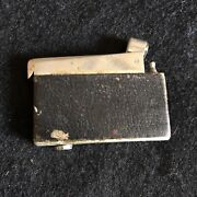 Vintage Lighter Kw Classic Leather Wrapped Rare Unique Made In Germany Free Ship