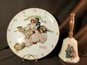 Vintage Norman Rockwell Wall Clock And Gorham Love's Harmony Bell The Artist