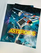 Atari Asteroids Poster And Lunar Lander Vintage Reproductions 2012 18 By 42 Inches