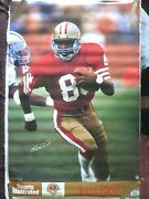 Rare Jerry Rice 49ers 1989 Vintage Original Sports Illustrated Si Nfl Poster