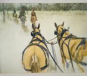 Henry Koehler View From The Wagon Limited Signed Numbered Original Lithograph