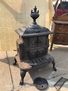 Antique Salesman Demo Cast Iron Wood Gracefull Co-operative Stove Chicago Sample