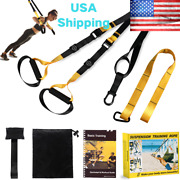 Trx Style Suspension Trainer Home Gym Training Kit With Integrated Door Anchors