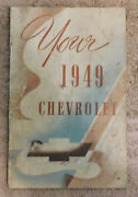 1949 Chevrolet Special Deluxe Orig General Hints And Information Booklet