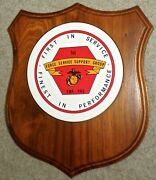 Us Marine Corps Fleet Marine Force Pacific 1st Service Support Group Plaque