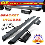 Fit Toyota Tundra Double Cab 3 Black Running Board Nerf Bar 2007-2021 Hoop Step