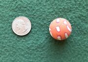 Vintage Super Ball 1970s Bouncy Gumball Machine Toy Superball Orange Red White