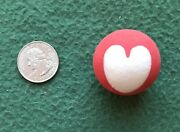 Vintage Super Ball 1970s Bouncy Gumball Machine Toy Superball Red W White Heart