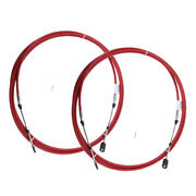 2x 16ft Red Marine Motor Engine Throttle Control Cable For Yamaha Outboards