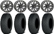 System 3 Sb-4 Black 6+1 15 Wheels 35 Coyote Tires Can-am Renegade Outlander