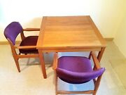 Benny Linden Teak Table And Chairs - Danish Style Modern With Extension 67