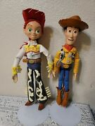 Disney Pixar Toy Story Pull String Jessie And Woody Doll Toy - Read Description.