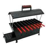 New Iron Hut Shape Outdoor Camping Charcoal Barbecue Bbq Grill With 8 Skewers