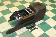 14-19 Gm Truck Crew Brown Leather Wood Grain Console Armrest Lid Assembly Oem