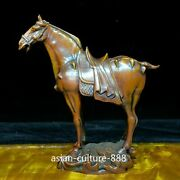 Chinese Old Collectible Boxwood Horse Woodcarving Ornament Solid Wood Statue