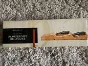 Bellemain pure Moso Bamboo. Drawer Knife Organizer Keeps Up To 16 Knives New.