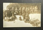 Mint Vintage Wwi German Soldiers With Machine Gun In The Snow Rppc