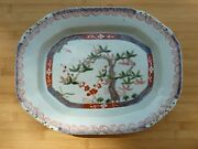 19th C. Chinese Export Large Clobbered Platter Danish Decorated