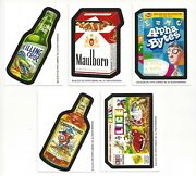 2010 Wacky Packages Postcards Series 6 Pc6 Complete Set Of 5 Artist Bio Cards