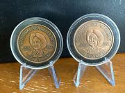 19th And 20th Annual Rex Allen Days Rodeo Assoc., Wilcox Arizona, Set Of 2 Coins