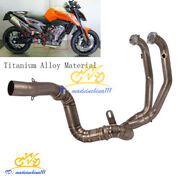 Slip On Motorcycle Exhaust System Header Front Link Tube Modified For Duke 790