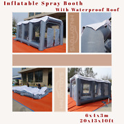 With Waterproof Roof 20x13x10ft Inflatable Spray Paint Booth Mobile Tent