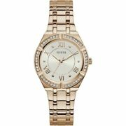 Guess Ladies Watch Cosmo Gw0033l3 Polished Rose Gold Case Crystal Dial