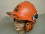 Rare Stihl Chainsaw Helmet Ny Lumberman Cut Above The Rest Logger Safety