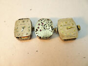 Movado And Longines Women's Vintage Watch Movements For Restoration Parts