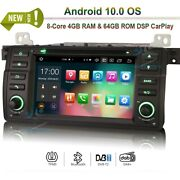Android 10.0 Car Radio Gps Sat Navi Stereo For Bmw 3 Series E46 M3 Mg Zt Rover75