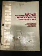 1981-1985 Mitchell Body Mechanical Parts Service Repair Manual Domestic Cars