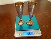 Antique Lithuania Vilnius Russian 84 Silver Goblets Gobelet Cup Silber Becher