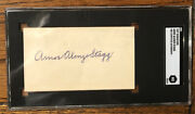 Amos Alonzo Stagg Signed Cut Long Time College Coach Yale Player Cfhof